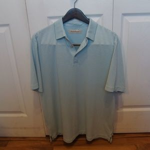 Tommy Bahama Striped Polo Sz: Large